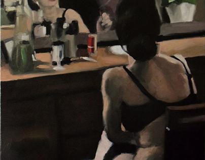 """Mirror"" painitng by Kamila Ossowska, 120x80cm"