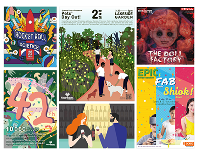 Graphic Design/ Illustration (Selected posters 2014-20)