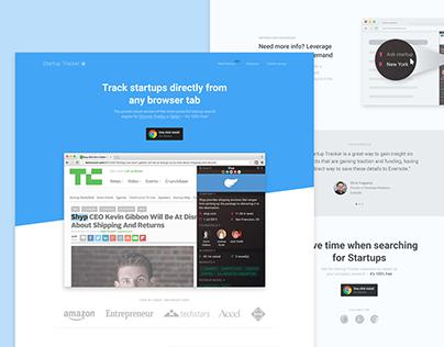 Startup Tracker- Landing Page Optimization (case-study)