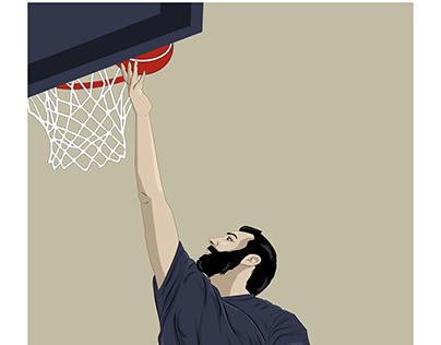 ILUSTRACIÓN DIXITAL-BASKETBALL PLAYER