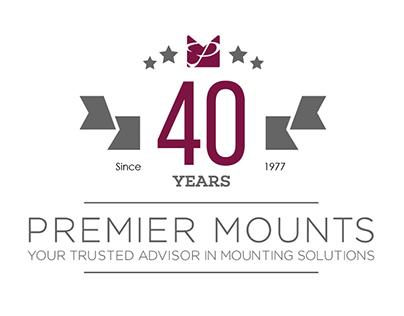 Premier Mounts 40th Anniversary Logo