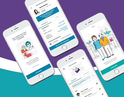 Find caregiver - App showcase