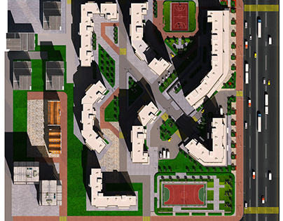 Design project, Residential complex Solovey