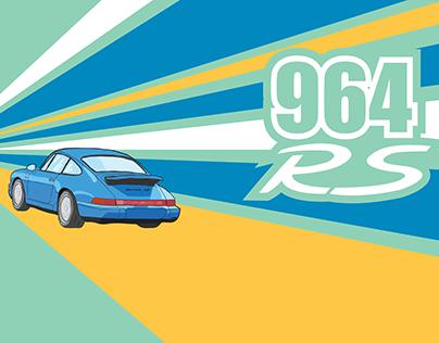 Porsche 911 964 RS - Poster Design