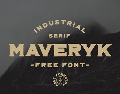 MAVERYK - FREE INDUSTRIAL SERIF