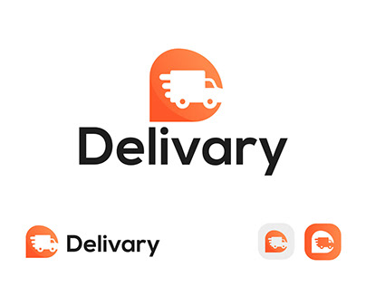 Delivery app icon and logo design