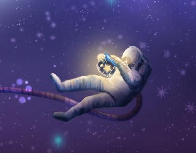 Star Collector in Nebula