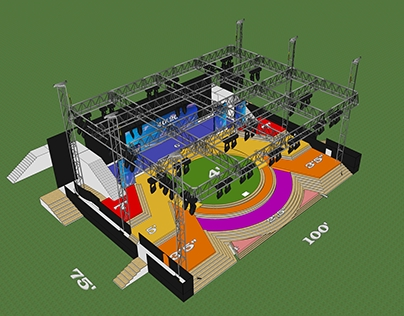 Stage Visualization for GMDC Navratri event