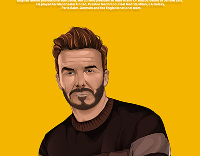 David Beckham vector art