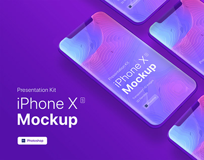 [FREE PSD] iPhone XS app mobile showcase Mock-Up
