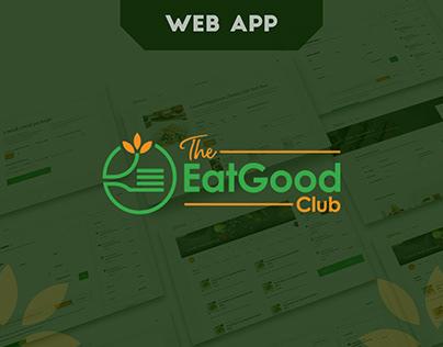 The Eat Good Club | UI/UX design