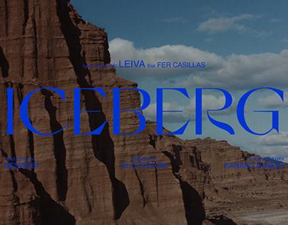 Leiva Iceberg Title design