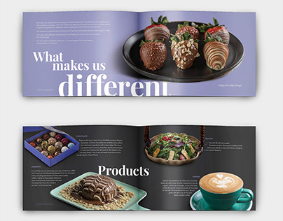 Booklet for luxury chocolate and coffee shop