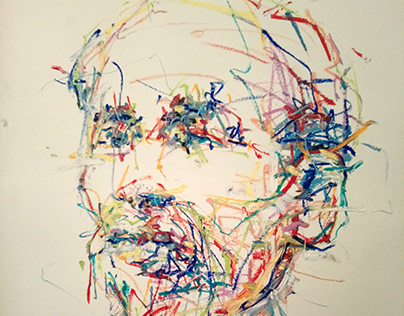 Quick sketch ΙΙ, oil pastel on paper, 70 x 50 cm, 2020