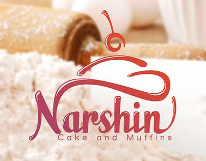 Logo design of Narshin Cake & Muffins by zarifgraphic