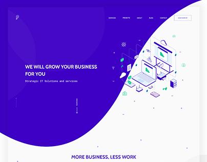 LA Creative Inc. - Website redesign, 2018.
