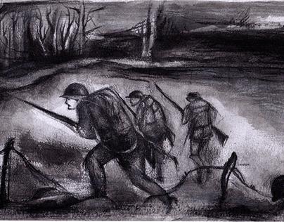 """""""War"""" illustration for trailer music"""