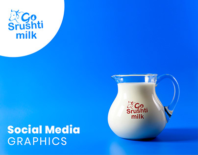 Go Srushti Milk. Social Media Graphics