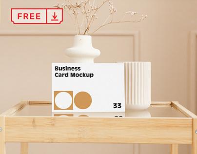 Free Card on Table Mockup