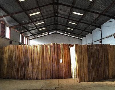 The Library installation at third Kampala Biennale