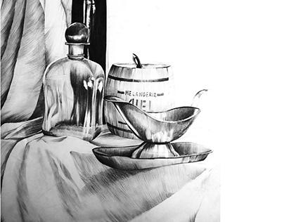 Still Art Drawing - different textures