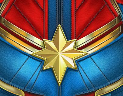 Captain Marvel torso fanart