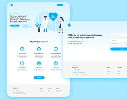Nurity - Medical Landing Page
