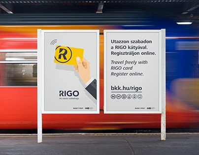 RIGO - E-ticket system identity for Budapest