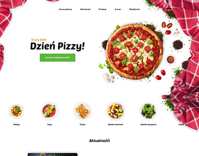 Culinary blog Website UI Layout Design