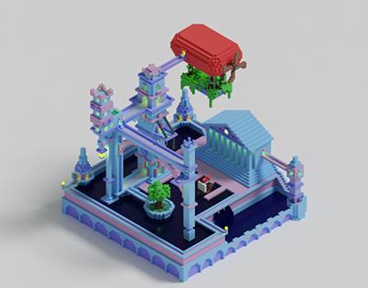 Isometric Voxel City