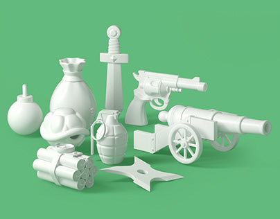 3D Weapons Model Pack