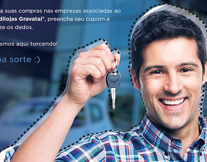 """Anúncio campanha """"Compre Aqui e Concorra"""" - Sindilojas"""