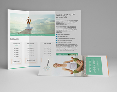Yoga Meditation A4 / Letter Trifold Brochure