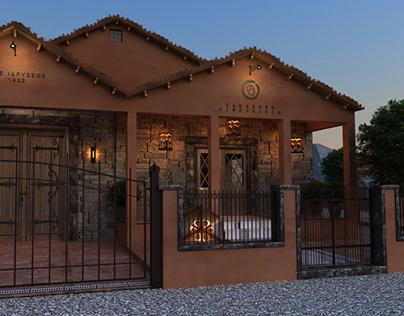 Luxurious wine house