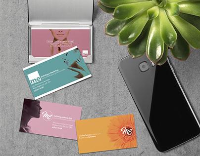 Esthétique Marie-Ève business card design