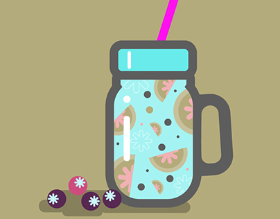 Yummy Smoothie Illustration