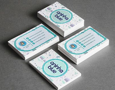 Cartão de visitas Aninha Blue