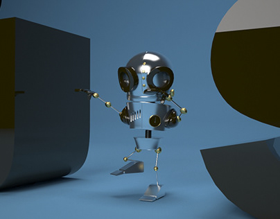 Robot 3D Animation (Walk Cycle)