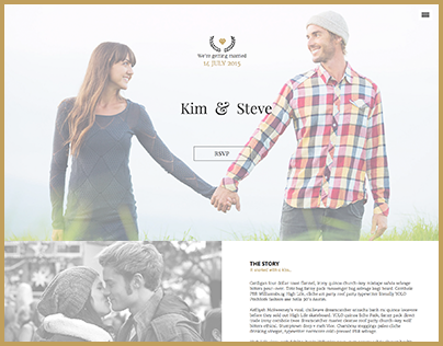 Amorous | One Page Wedding Template for Adobe Muse