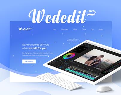 Wededit.pro Landing Page