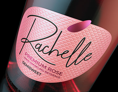 Rachelle. Sparkling wine. Label design.