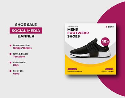 Fashion / Shoe Sale Social Media Post Template