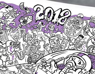2018 Cartoon Calendar