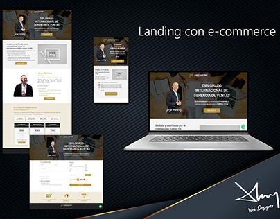 Landing con e-commerce