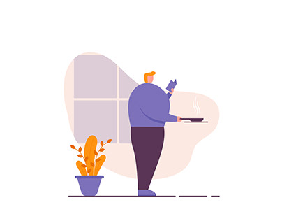 Stay Home Flat Illustration