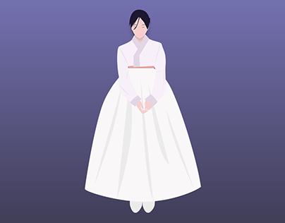 Korean Hanbok Illustration