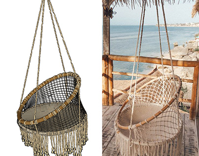 Photo Reference Modeling Of Hanging Chair