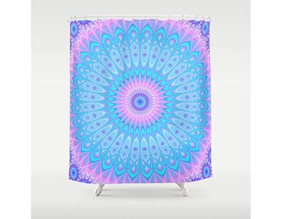 Winter Star Mandala Shower Curtain