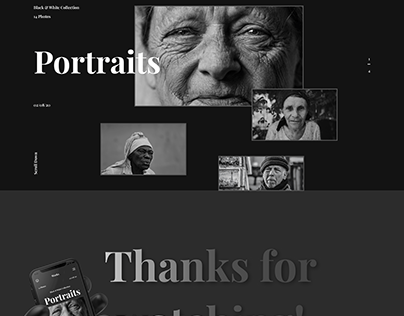 Landing Page for Photographer (Dark theme)