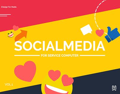 Social Media Design | service for computer